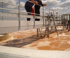 Aeration tank at cheese factory