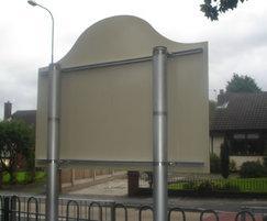 GRP school entrance sign - fixing details