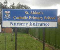 GRP school entrance sign