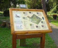 Oak lectern-frame interpretive panel