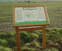 Oak lectern-frame signage