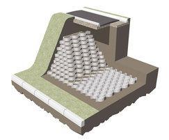 Geocell cellular slope stabilisation diagram
