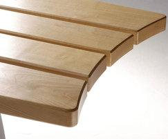Smart Alex bench, natural finish, waxed end grains