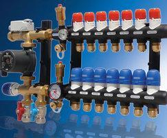 Composite manifold for underfloor heating