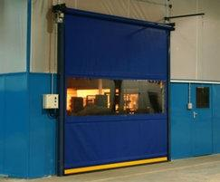 Fastflex door with clear vision panel