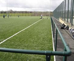 Spectator rails for football pitches no mesh infill